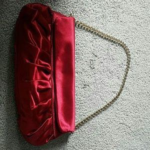Ann Taylor red silk purse